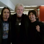 Audie Desbrow & Terry Ilous (Great White),  & Randy Bachman - LAX Airport - Aug. 2014
