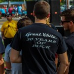 Fan w/ Great White T-Shirt - Cactus Petes - Jackpot, NV. - Sept. 13, 2014