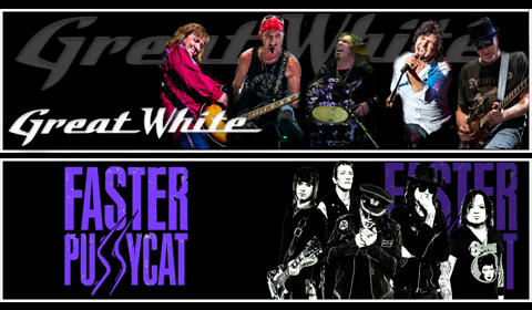 Great White and Faster Pussycat 2017